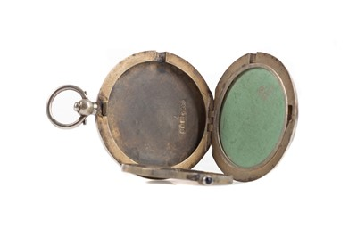 Lot 428 - AN EDWARDIAN SILVER AND GUILLOCHE ENAMEL COMPACT