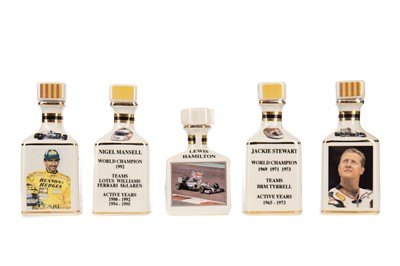 Lot 1703 - FORMULA 1 INTEREST - COLLECTION OF FIVE POINTERS WHISKY MINIATURES