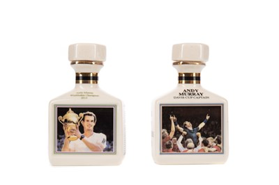 Lot 1705 - TENNIS INTEREST - PAIR OF  POINTERS WHISKY MINIATURES