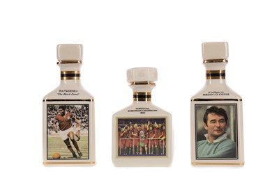 Lot 1706 - FOOTBALL INTEREST - COLLECTION OF THREE POINTERS WHISKY MINIATURES