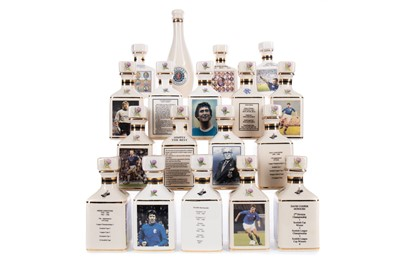 Lot 1710 - RANGERS F.C. INTEREST - COLLECTION OF EIGHTEEN POINTERS WHISKY MINIATURES