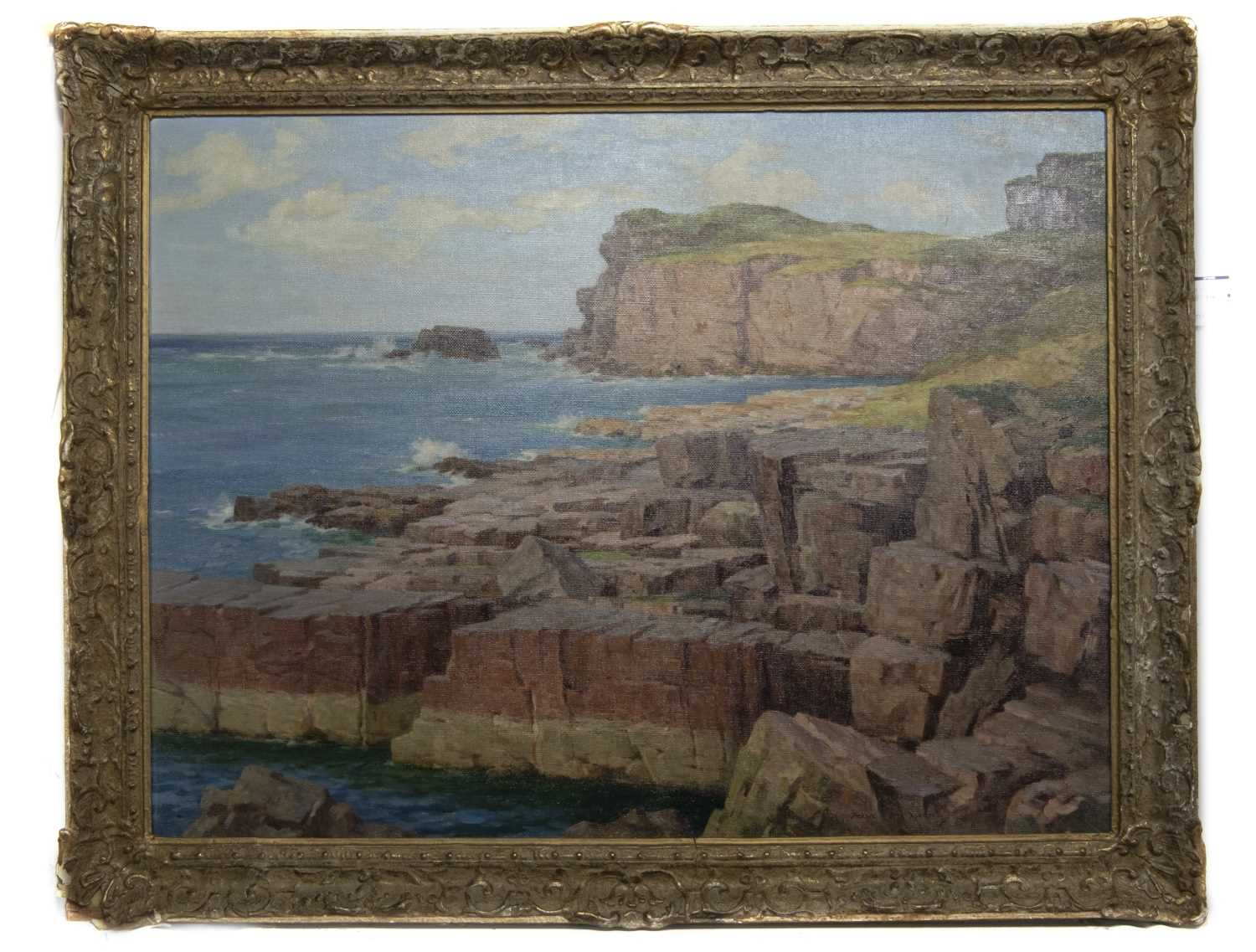 Lot 92 - OFF THE SCOTTISH COAST, AN OIL BY FRANCIS PATRICK MARTIN