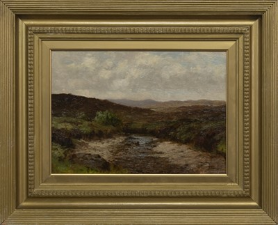Lot 100 - HIGHLAND SCENE, AN OIL BY THOMAS HOPE MCKAY