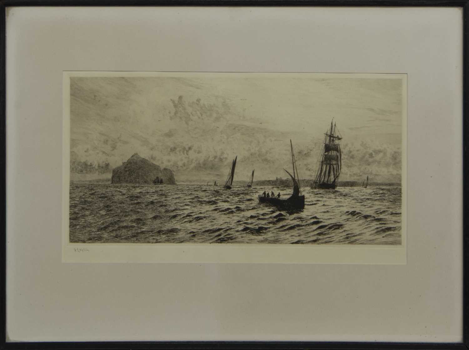 Lot 94 - THE BASS ROCK, AN ETCHING BY WILLIAM LIONEL WYLLIE