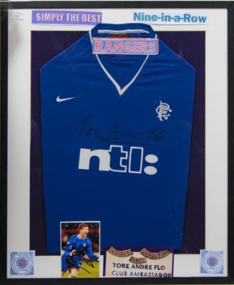 Lot 1751 - TORE ANDRE FLO SIGNED RANGERS JERSEY