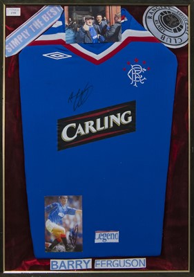 Lot 1759 - A BARRY FERGUSSON SIGNED RANGERS F.C. JERSEY