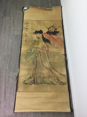 Lot 1633 - A 20TH CENTURY CHINESE SCROLL