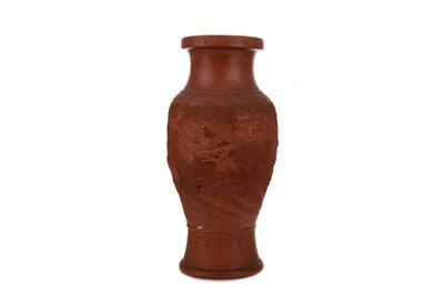 Lot 1643 - A 20TH CENTURY CHINESE TERRACOTTA VASE
