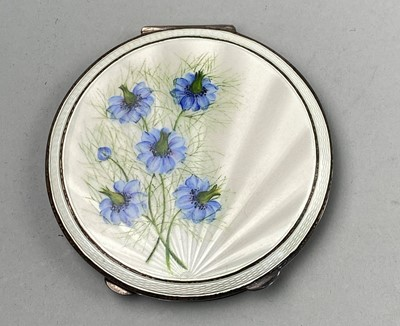 Lot 13A - A SILVER AND ENAMEL COMPACT