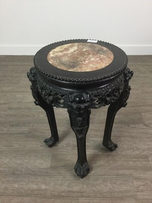 Lot 1638 - AN EARLY 20TH CENTURY CHINESE HARDWOOD PLANT TABLE