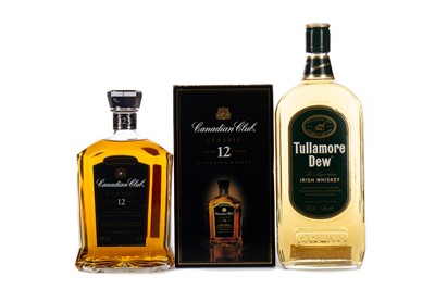 Lot 7 - CANADIAN CLUB AGED 12 YEARS AND TULLAMORE DEW