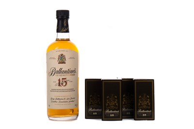 Lot 9 - BALLANTINE'S AGED 15 YEARS AND FOUR BALLANTINE'S 18 YEARS OLD MINIATURES