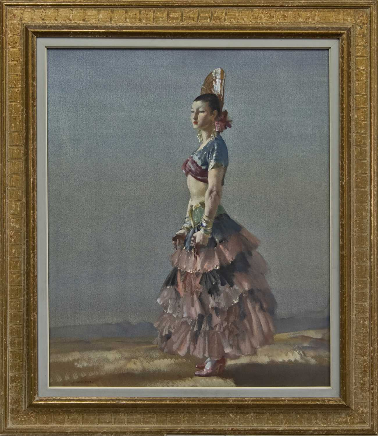 Lot 2023 - THE SPANISH DANCER, A WATERCOLOUR BY SIR WILLIAM RUSSELL FLINT