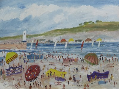 Lot 557 - ST IVES, AN OIL BY SIMEON STAFFORD