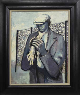 Lot 528 - THE PIGEON FANCIER, AN OIL BY JOHN G BOYD