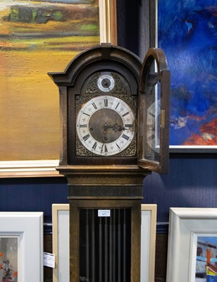 Lot 1177 - AN EARLY 20TH CENTURY GRANDMOTHER CLOCK