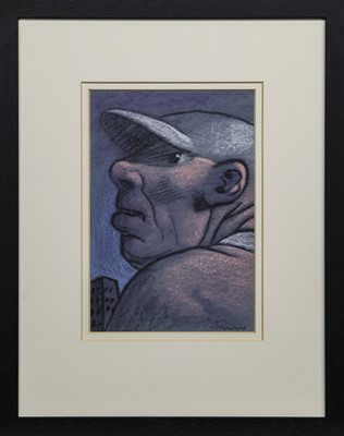Lot 532 - PATRIOT, A PASTEL BY PETER HOWSON