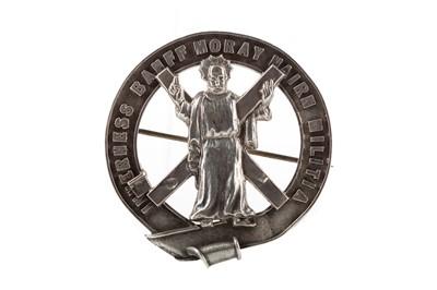 Lot 1405 - A VICTORIAN INVERNESS, BANFF, MORAY, NAIRN MILITIA GLENGARRY BADGE
