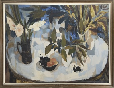 Lot 537 - STILL LIFE, AN OIL BY BABS REDPATH