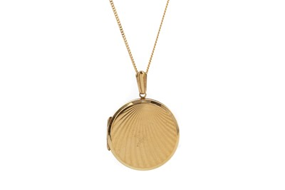 Lot 833 - TWO GOLD CHAINS AND A LOCKET