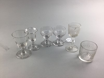 Lot 35 - A PAIR OF REGENCY PORT GLASSES AND OTHER PORT GLASSES