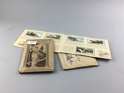 Lot 29 - A LOT OF TWO BOOKS OF CIGARETTE CARDS AND POSTCARDS