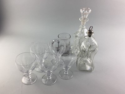 Lot 34 - A VICTORIAN NEWCASTLE GLASS DECANTER AND STOPPER