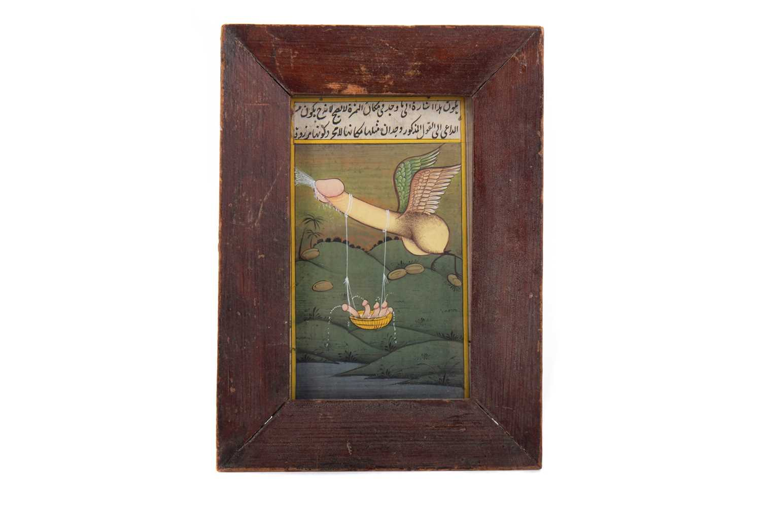 Lot 1644 - A LATE 19TH CENTURY INDIAN EROTIC PAINTING