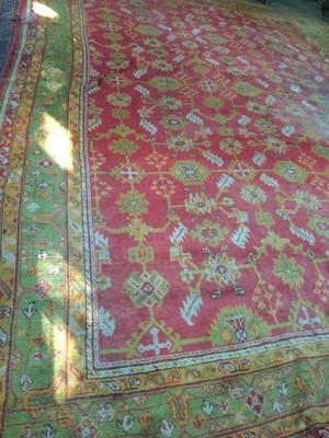 Lot 1446 - A TURKEY BORDERED CARPET