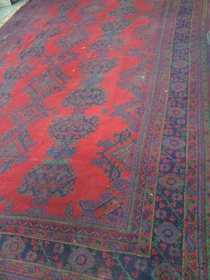 Lot 1448 - A TURKEY BORDERED CARPET