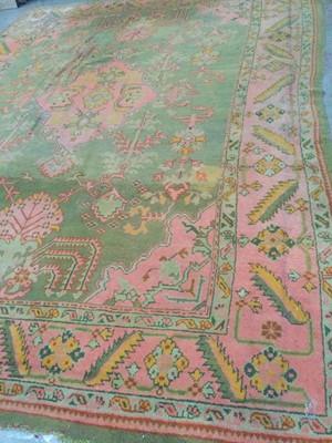 Lot 1450 - A TURKEY BORDERED CARPET