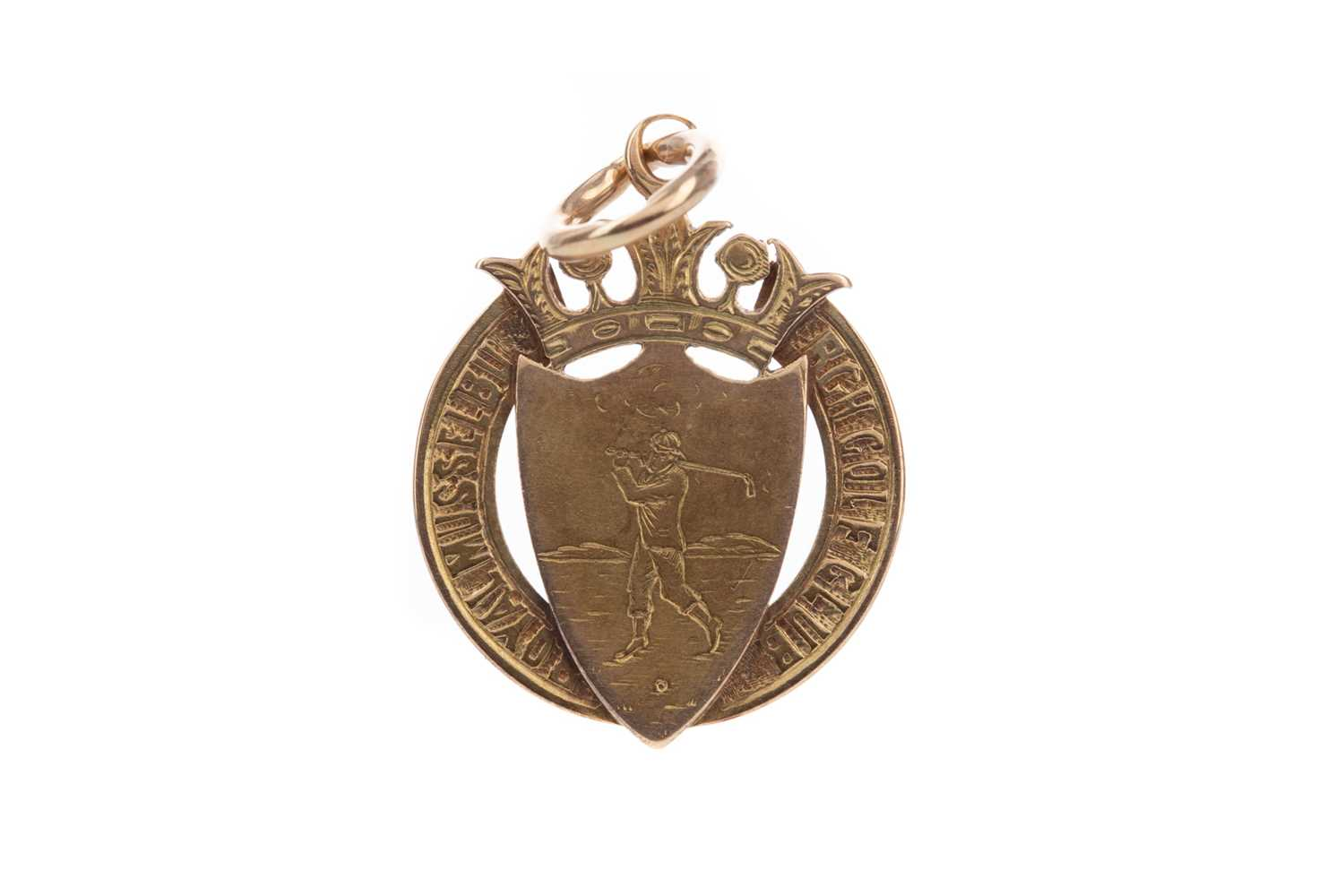 Lot 1738 - A LATE VICTORIAN ROYAL MUSSELBURGH GOLF CLUB NINE CARAT GOLD MEDAL