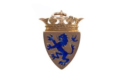 Lot 1740 - AN EDWARDIAN NINE CARAT GOLD GOLFING MEDAL