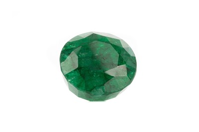 Lot 1489 - **A CERTIFICATED UNMOUNTED EMERALD