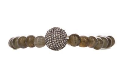 Lot 1500 - A LABRADORITE AND DIAMOND BRACELET