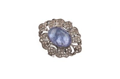 Lot 1509 - A TANZANITE AND DIAMOND RING