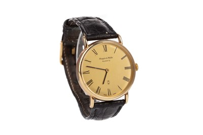 Lot 716 - TWO LADY'S GOLD CASED MANUAL WIND WRIST WATCHES AND A GENTLEMAN'S MAPPIN AND WEBB WRIST WATCH