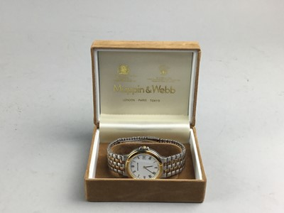 Lot 49 - A GENT'S MAPPIN & WEBB BI-METAL WRIST WATCH AND ANOTHER WATCH
