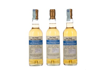 Lot 61 - THREE BOTTLES OF BRUICHLADDICH 2009 SMILE WHISKY CLUB