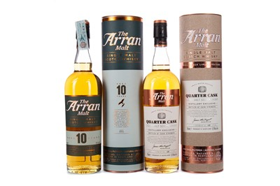 Lot 73 - ISLE OF ARRAN QUARTER CASK DISTILLERY EXCLUSIVE AND AGED 10 YEARS