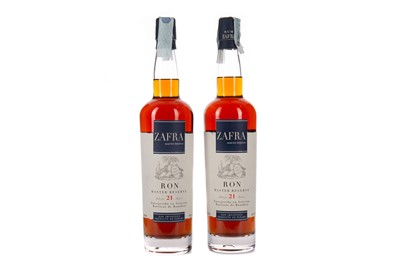 Lot 74 - TWO BOTTLES OF ZAFRA MASTER RESERVE AGED 21 YEARS