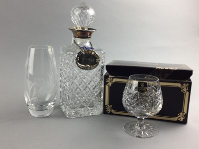 Lot 8 - A LOT OF BOXED CRYSTAL INCLUDING EDINBURGH AND CAITHNESS