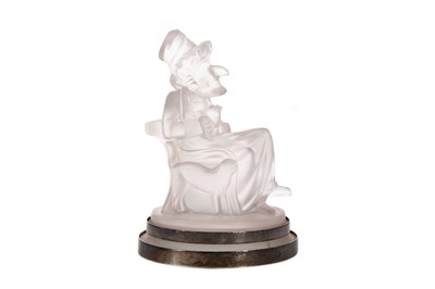 Lot 1024 - A LATE VICTORIAN FROSTED GLASS FIGURE OF JUDY