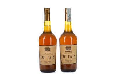 Lot 94 - TWO BOTTLES OF TOUTAIN HORS D'AGE CALVADOS