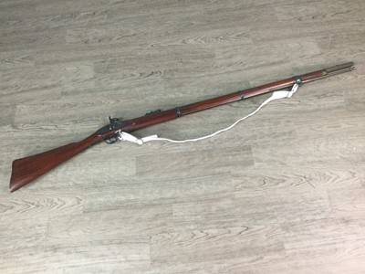 Lot 1413 - A REPRODUCTION PERCUSSION MUSKET