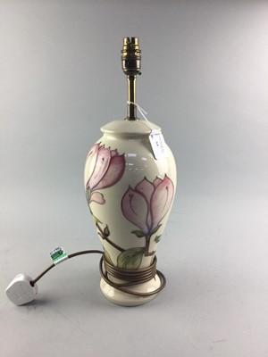 Lot 64 - A MOORCROFT TABLE LAMP
