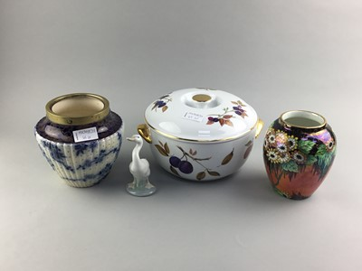 Lot 65 - A MALING OVIFORM VASE AND OTHER CERAMICS