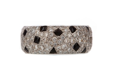 Lot 947 - A PARTIAL CARTIER SAPPHIRE AND DIAMOND RING