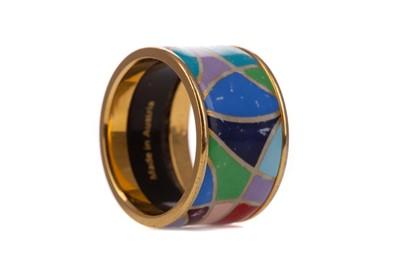 Lot 954 - AN AUSTRIAN GOLD PLATED ENAMEL FREY WILLIE RING