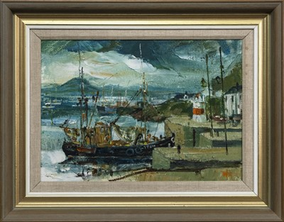 Lot 554 - CRINAN LIGHT, AN OIL BY JAMES WATT